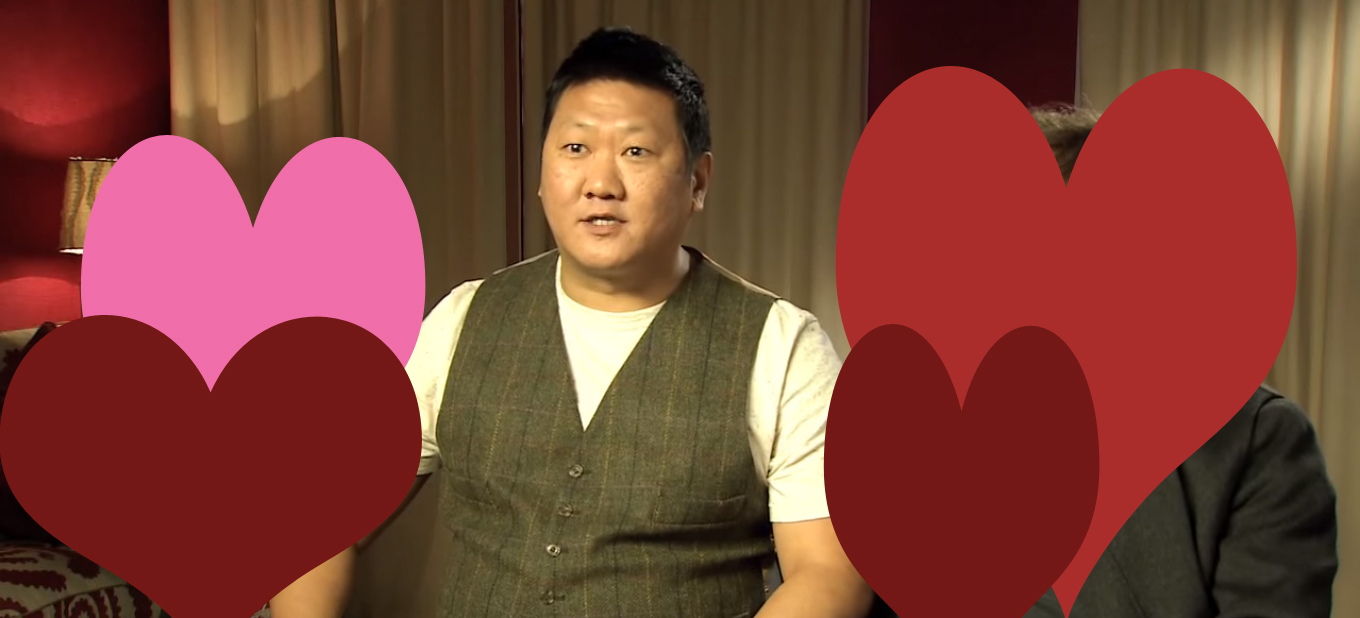 Benedict Wong and hearts